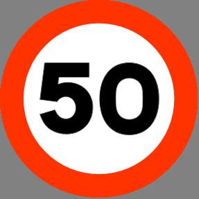 Maksimal 50 Kmh